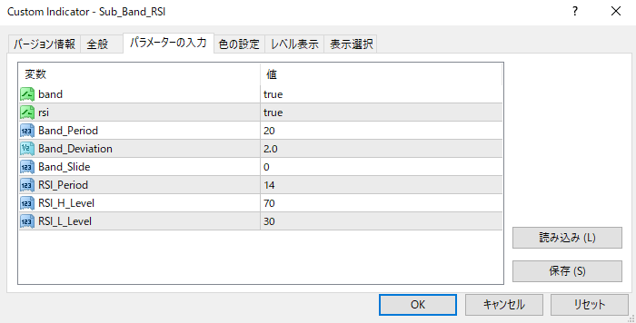 subband_RSIパラメーター